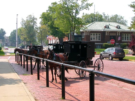Hitching Post, Courthouse Square, LaGrange, Indiana