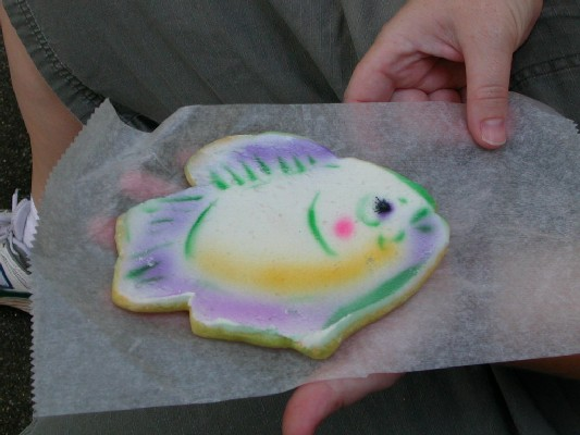 Susan's cookie, shaped like a fish