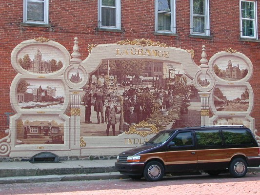 Corn School mural, LaGrange, Indiana
